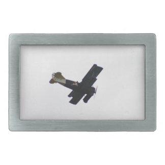 Biplano modelo en vuelo hebillas de cinturón