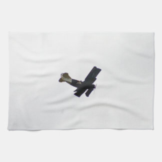 Biplano modelo en vuelo toalla de mano