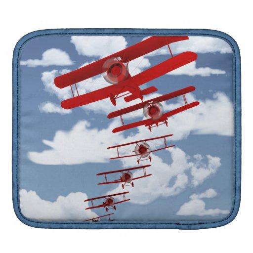 Biplano retro mangas de iPad