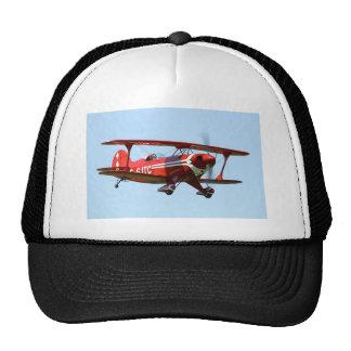 Biplano rojo gorra