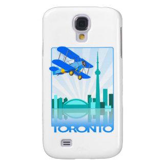Biplano sobre el diseño retro de Toronto Funda Para Galaxy S4