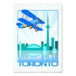 Biplano sobre el diseño retro de Toronto Invitaciones Personales