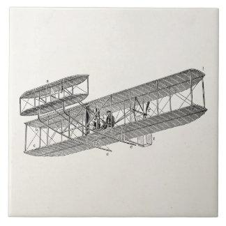 Biplanos viejos retros del avión del biplano del a azulejo