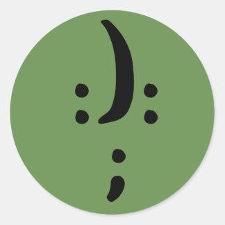 Bipolar Awareness Classic Round Sticker, Glossy Classic Round Sticker