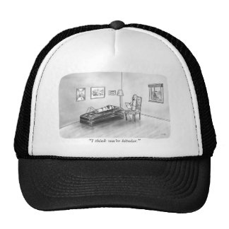 Bipolar battery and psychologist trucker hat
