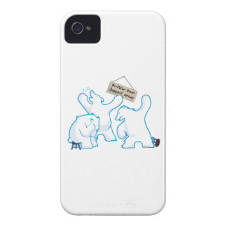 Bipolar Bear iPhone 4 Case-Mate Cases
