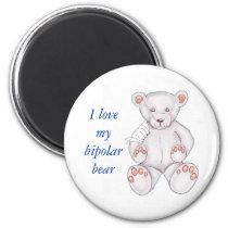 Bipolar Bear Magnet