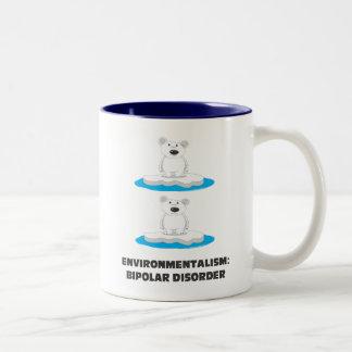 bipolar bears Two-Tone coffee mug