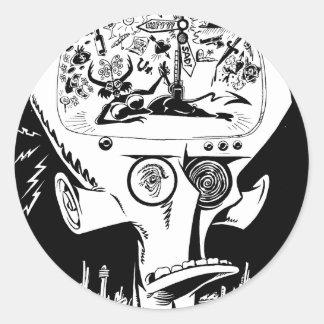 Bipolar Boulevardier Classic Round Sticker