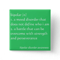 Bipolar Disorder Awareness Button