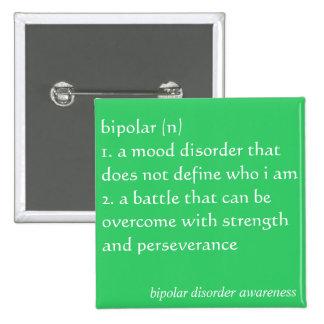 Bipolar Disorder Awareness Button