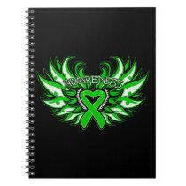 Bipolar Disorder Awareness Heart Wings Spiral Notebooks