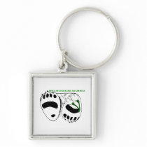 Bipolar Disorder Awareness Hope Keychain