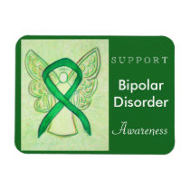 Bipolar Disorder Awareness Ribbon Angel Magnet