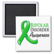 Bipolar Disorder Awareness Ribbon Magnet