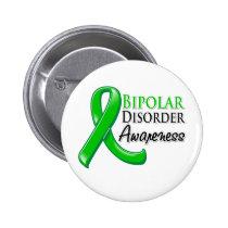 Bipolar Disorder Awareness Ribbon Pinback Button