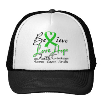 Bipolar Disorder Believe Heart Collage Mesh Hat