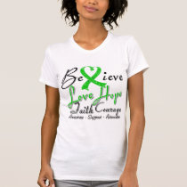Bipolar Disorder Believe Heart Collage Tshirts