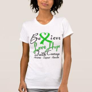 Bipolar Disorder Believe Heart Collage Tshirts