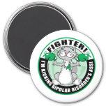 Bipolar Disorder Cat Fighter 3 Inch Round Magnet