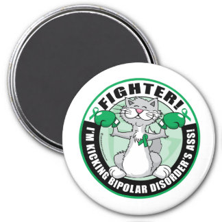 Bipolar Disorder Cat Fighter 3 Inch Round Magnet