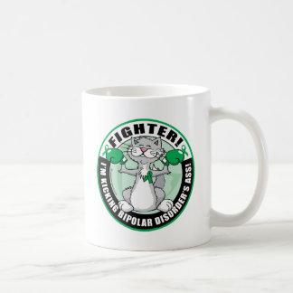 Bipolar Disorder Cat Fighter Coffee Mug