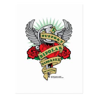 Bipolar Disorder Dagger Postcard