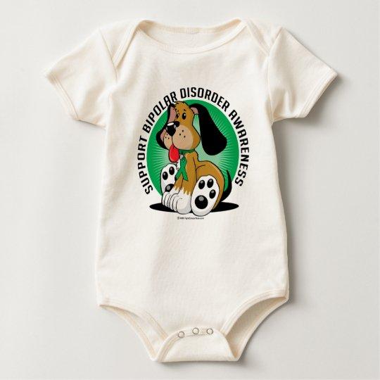 Bipolar Disorder Dog Baby Bodysuit