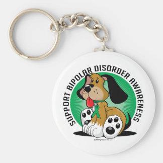 Bipolar Disorder Dog Keychain