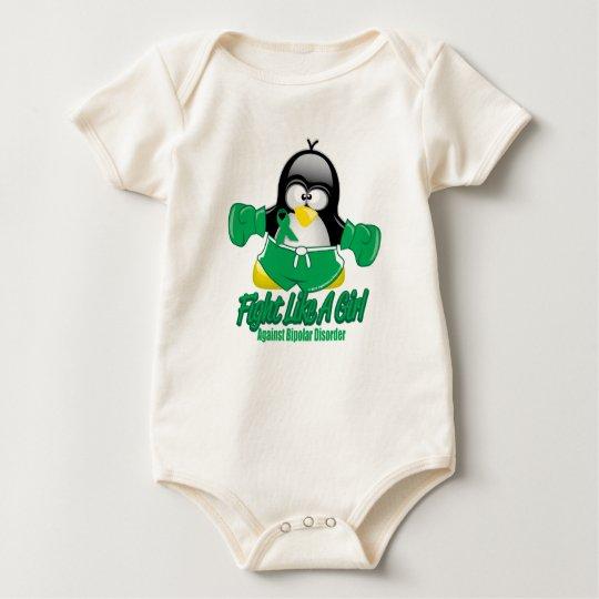 Bipolar Disorder Fighting Penguin Baby Bodysuit