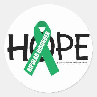 Bipolar Disorder Hope Classic Round Sticker
