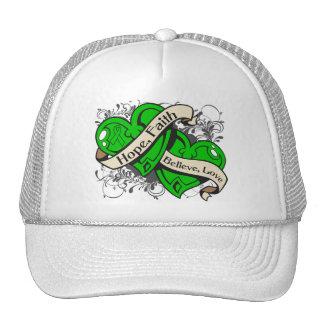 Bipolar Disorder Hope Faith Dual Hearts Hat