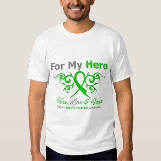 Bipolar Disorder Hope Love FaithTribal Ribbon Tee Shirt