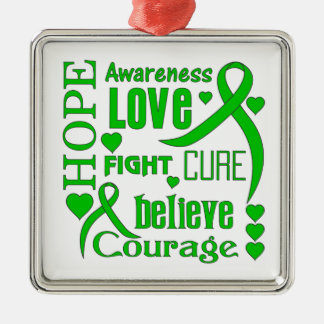 Bipolar Disorder Hope Words Collage Christmas Tree Ornament