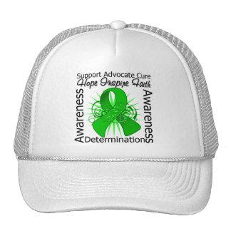 Bipolar Disorder Inspirations Spiral Ribbon Mesh Hats