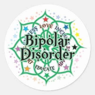 Bipolar Disorder Lotus Classic Round Sticker