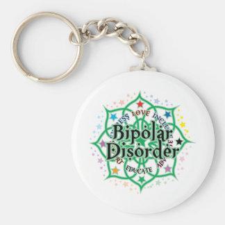 Bipolar Disorder Lotus Keychain