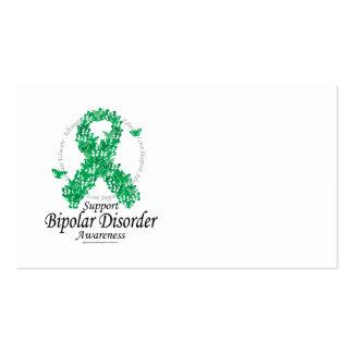 Bipolar Disorder Ribbon of Butterflies Business Card Templates