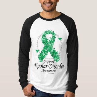 Bipolar Disorder Ribbon of Butterflies T Shirt