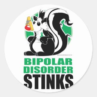 Bipolar Disorder Stinks Classic Round Sticker