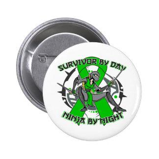 Bipolar Disorder Survivor By Day Ninja By Night Button