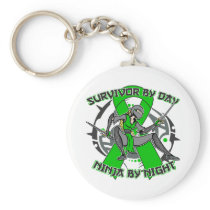 Bipolar Disorder Survivor By Day Ninja By Night Basic Round Button Keychain