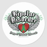 Bipolar Disorder Wings Stickers