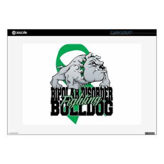 "Bipolar Fighting Bulldog Decals For 15"" Laptops"