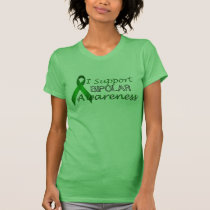 Bipolar Green Awareness Ribbon Ladies Green T T-Shirt