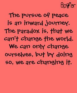 Bipolar - la prosecución de la paz camisetas