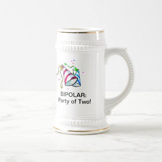 BIPOLAR: Party of Two! Beer Stein