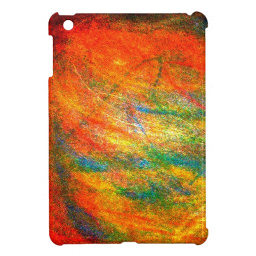 Bipolar Side A abstract artwork in orange Case For The iPad Mini