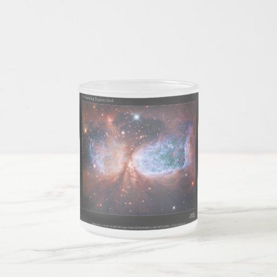 Bipolar Star Forming Region Sharpless 2-106 Nebula Frosted Glass Coffee Mug
