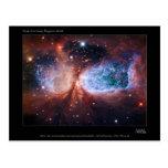 Bipolar Star Forming Region Sharpless 2-106 Nebula Postcard
